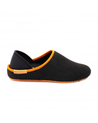 Slipper Pönia Colors Black Orange